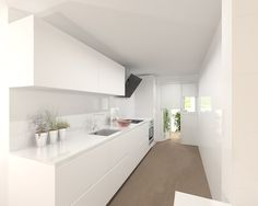 what about skinnier cupboards up top? with a gap in the middle. Kitchen Room Design, Condo Kitchen, Modern Kitchen Cabinets, Kitchen Cabinet Design, Kitchen Interior, Interior Design Living Room, Kitchen Remodel, Kitchen Decor, White Gloss Kitchen