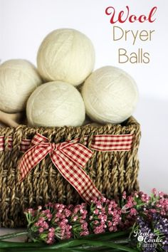 How to make your own wool dryer balls. Full tutorial