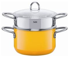 Silit Steamer With Insert, Crazy Yellow - Contemporary - Specialty Cookware - by Langton Info Services