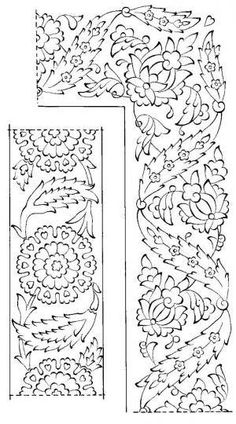 Border Pattern, Border Design, Pattern Art, Pattern Design, Turkish Design, Turkish Art, Arte Judaica, Turkish Pattern, Islamic Art Pattern