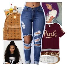 """""""Untitled #379"""" by kfashion757 ❤ liked on Polyvore featuring ELLE Time & Jewelry, SheaMoisture, MCM and Puma"""