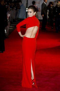 Lily Collins - 'Love, Rosie' London Premiere