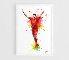 Steven Gerrard  Liverpool FC   A3 Art Prints of the by NazarArt