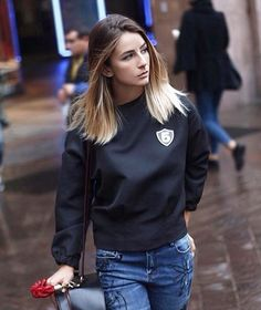 """sophietta wearing Mangano sweatshirt """"Mayfair"""" >> available on our shop online"""