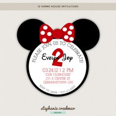 Birthday Invitations | Mickey Mouse & Minnie Mouse