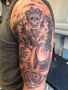 Lovely work by Greg on this gambling sleeve piece.
