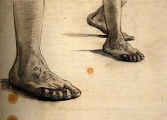 Feet, 1885 by Vincent van Gogh. Realism. sketch and study. Van Gogh Museum, Amsterdam, Netherlands