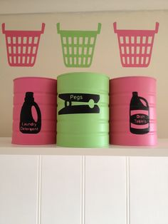 Great way to use formula cans - the ones that aren't being used as herb planters, that is...