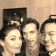 THE MAN IN THE HIGH CASTLE cast - Alexa Davalos, Rufus Sewell and Joel de la Fuente