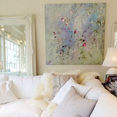 Love this Laurence Amelie painting from Rachel Ashwell's Shabby Chic Couture in San Francisco