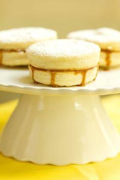 alfajores - shortbread cookies sandwiched together with dulce de leche