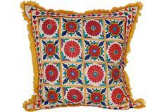 Vintage Indian Textile Pillow