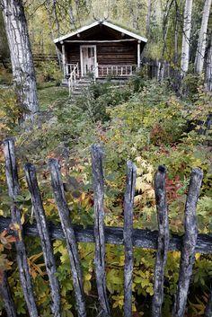 the Robert Service cabin, Dawson City, Yukon