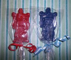 How big? Transformer Robot Themed Party Favor... Chocolate Lollipops. $18.00, via Etsy.