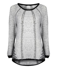 Love this Dex Ivory & Black Two-Tone Sweater by Dex on #zulily! #zulilyfinds