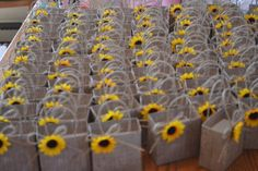 Items similar to Sunflower wedding party favor bags, Wedding favor bags, Wedding gifts on Etsy Sunflower Birthday Parties, Sunflower Party, Sunflower Baby Showers, Sunflower Gifts, Sunflower Wedding Favors, Sun Flower Wedding, Sunflower Decorations, Sunflower Seeds, Wedding Favor Bags