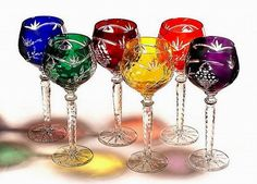 Crystal Gifts, Crystal Goblets - Colored Crystal Gifts - Colored Crystal Stemware