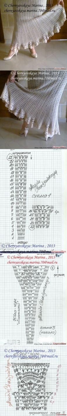 Вязание крючком - юбки