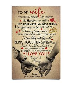 Love My Wife Quotes, Cute Quotes For Him, I Love My Wife, Husband Quotes, Husband Love, To My Daughter, To My Wife, Future Wife, Great Gifts For Wife