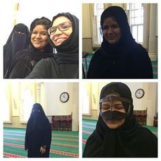Rinki our guest visiting from #Calcutta #India at #AlNoormosque  #visit today. #dressing up #burqa #niqab #cultural #exchange #learning #laughter #selfie #smiles