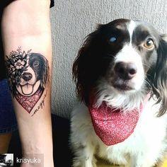Quanto amor Krisyuka - Quando uma imagem te mata de amores ❤️ #tattoo #tatuagem #pessoa #tatuada #cachorro #dog #amor #love