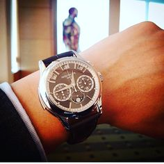 """Jeff  on Instagram: """"Serious Patek Game from Mr.Iwan Kusumo . With his iron man at the background ! #patek #ironman #perpetual #minuterepeater #chronograph"""""""