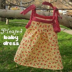 Pleated baby dress tutorial with FREE pattern