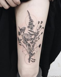 Part two of wilting wildflower bouquets, similar but different, for twins.  Thanks Heather and Haley! Check out @tenderfootstudio to see the pair together! Pony Reinhardt Tattoo Owner of @tenderfootstudio in Portland, OR