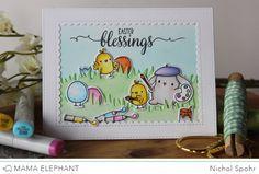 Nichol Spohr LLC: Easter blessings |  Mama Elephant February Stampede Blog Hop | Lil Painters + GIVEAWAY