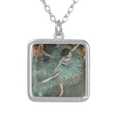 Swaying Dancer, Dancer in Green by Edgar Degas Necklaces