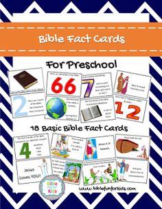 Bible Fun For Kids: Free Preschool Bible Fact Cards
