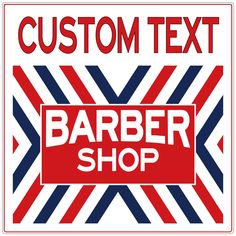 Barber Shop X Stripes Custom Metal Sign lets you personalize your barber shop or salon decor. Customize with a business name or slogan. Reproduction sign with the look of a vintage original. Made of heavy duty steel, available in 24 and 36 in. sizes. Made in the USA. Ships directly from the manufacturer.