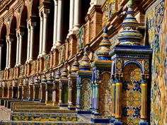 sevilla plaza de espana | Sevilla: Plaza De Espana.