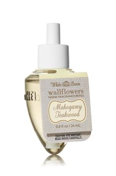 Mahogany Teakwood - Wallflowers Fragrance Refill - White Barn Home - Bath & Body Works - Combine with Wallflowers fragrance plug, sold separately, to scent any room with 24/7 noticeable freshness for weeks and weeks.