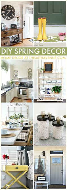 DIY Spring Decor Projects - Home Decor Ideas that you can do.