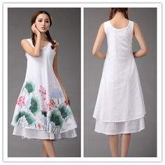 Wind Couture Hand Painted Beautiful Summer Dress