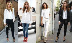 Znalezione obrazy dla zapytania biała koszula stylizacje