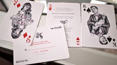 DIY playing cards wedding invitations by cocotrish