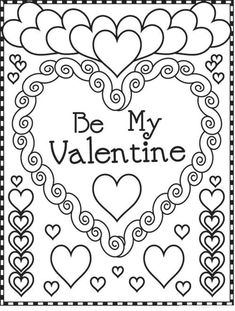 valentine's day color sheets