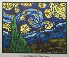 Melitta Archibald's entry to our Starry Night contest Van Gogh Art, Night, Artwork, Painting, Work Of Art, Auguste Rodin Artwork, Painting Art, Artworks, Paintings