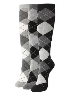 Vintage Socks | 1920s, 1930s, 1940s, 1950s, 1960s History Casual Knee High Socks 3Pairs 1 Set with Cute Colorful Pattern $12.20 AT vintagedancer.com