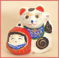 Daruma Doll Museum : Cats and Daruma