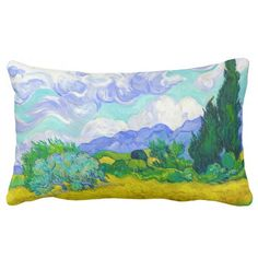SOLD! - Wheat Field with Cypresses by Vincent Van Gogh Pillow