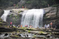 Compression FallsTwisting Falls   Boone, NC  I jumped off this waterfall beautiful swimming hole