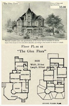 1000 Images About Victorian House Floor Plans On