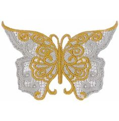2e5e338ace2f0 Butterfly (Lace Style) Embroidered Patch 7 Cm X 5 Cm (2 3