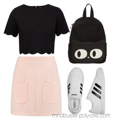 """""""Sunset"""" by mindbuster on Polyvore featuring See by Chloé, Ted Baker and adidas"""
