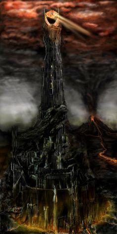 Tower of Barad Dur by Marko1991.deviantart.com on @deviantART