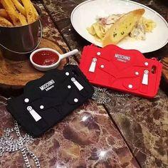 Moschino Milan Tasche Silikon Handyhülle mit Kette für Iphone6/6plus