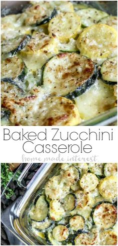 This creamy, cheesy Baked Zucchini Casserole is made with fresh zucchini, rich cream, and lots of cheese for the ultimate zucchini bake! It is an easy summer vegetable casserole that makes a great recipe to add to your meal plan. If you've been looking for a zucchini recipe to use up all of those summer zucchinis this is it! #ad #UndeniablyDairy #CollectiveBias #zucchini #summerrecipes #vegetables #casserole #cheese